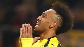 Dortmunds Pierre-Emerick Aubameyang verzweifelt im Hinspiel der Champions League gegen Monaco
