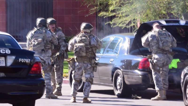 Bei der Schiesserei in San Bernadino werden bis zu 20 Opfer befürchtet.