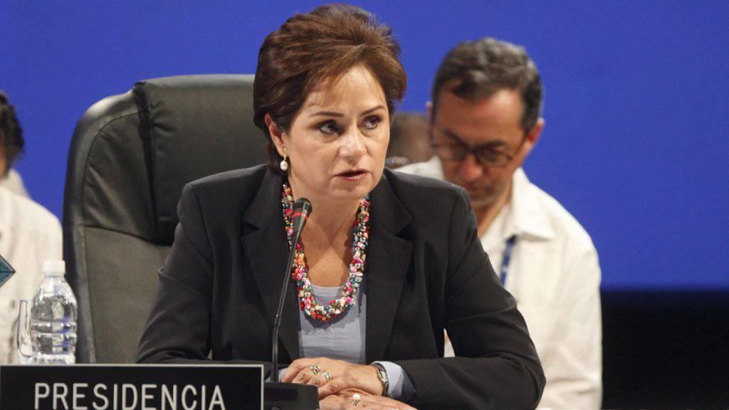 UNO-Klimachefin Patricia Espinosa warnt Donald Trump, dass sich die USA mit einem Ausstieg aus dem Pariser Klimaabkommen ins eigene Fleisch schneiden könnten. (Archivbild)