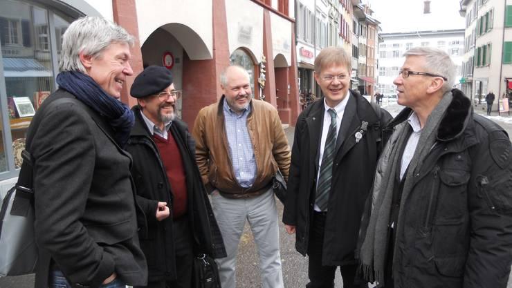 Von links: Hector Herzig, Daniel Altermatt, Jakob Rohrbach, Gerhard Schafroth, Hans Furer.