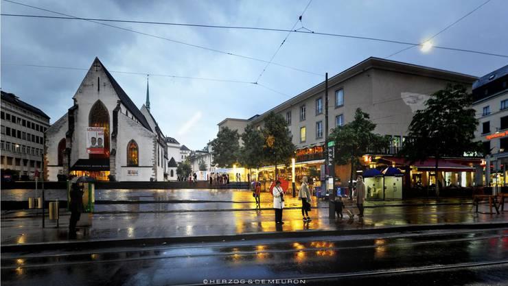 Der Barfüsserplatz ist nur einer von zwanzig, der auf der App «Swiss Squares» erfahrbar gemacht werden soll.
