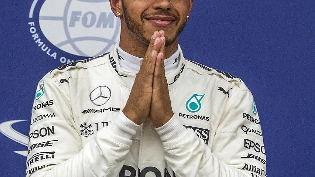 Lewis Hamilton verzückt sich mit seinem vierten Sieg in Monza selber