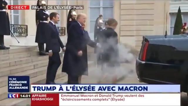 Elysée-Palast: Trumps Staatslimousine erhitzt Gemüter