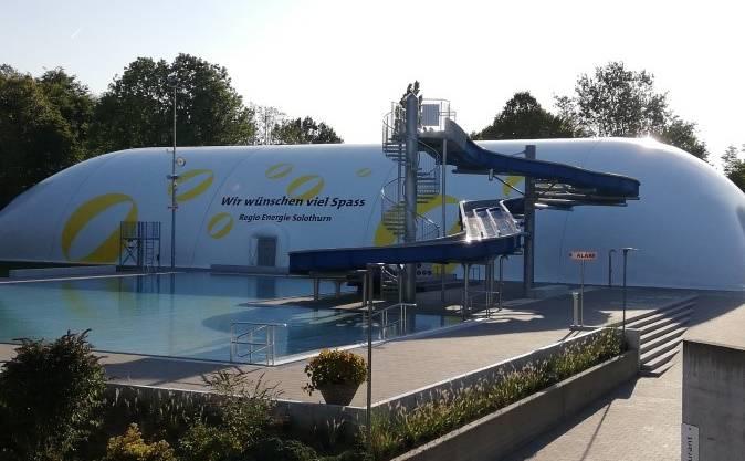 Die Traglufthalle im Sportzentrum Zuchwil wird am 28.September 2019 eröffnet.