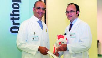 Orthopädie-Zentrum: Karim Eid, Philip Lindenlaub (von links).