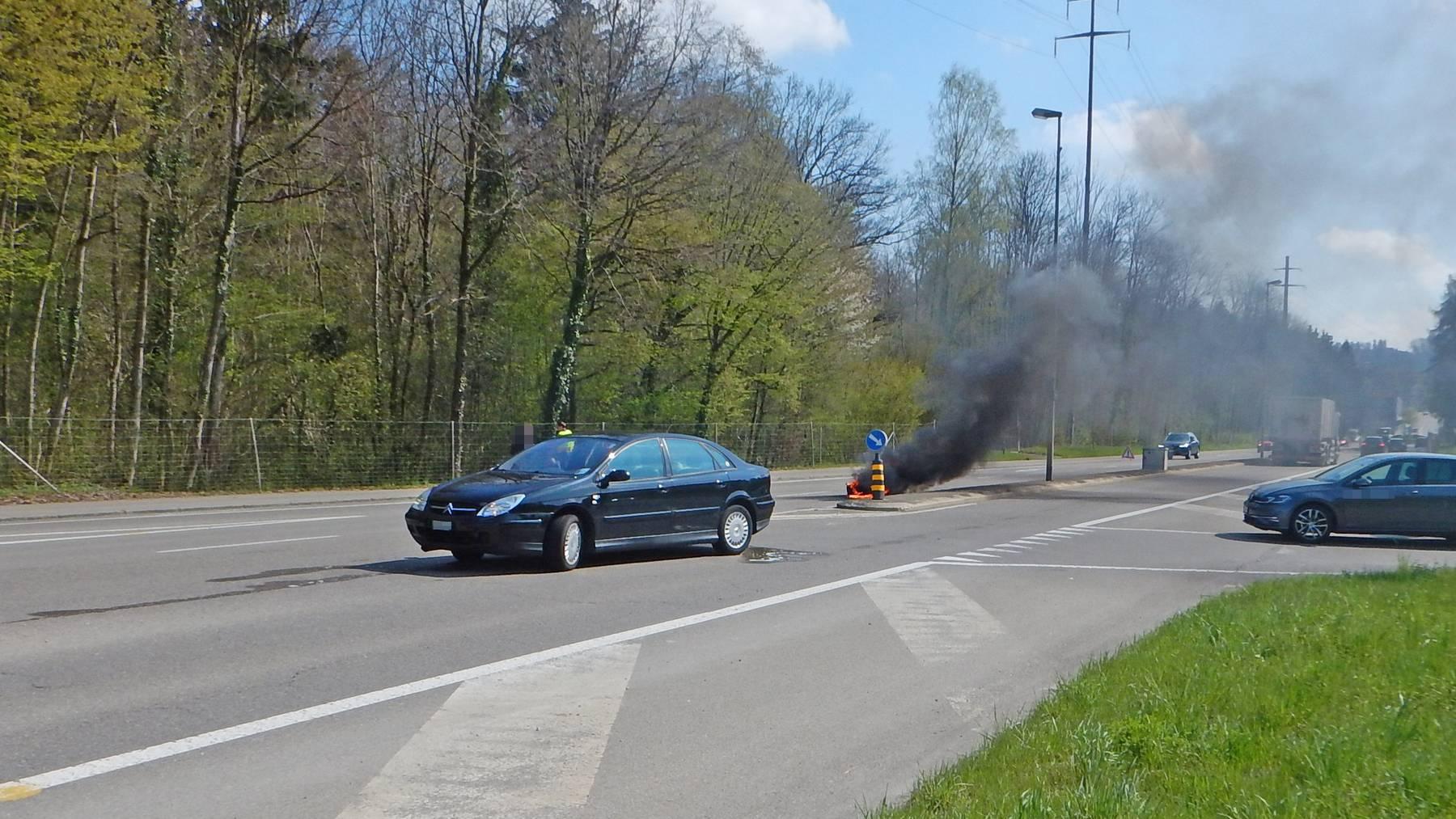 Der Motorradfahrer wurde beim Unfall mittelschwer verletzt.