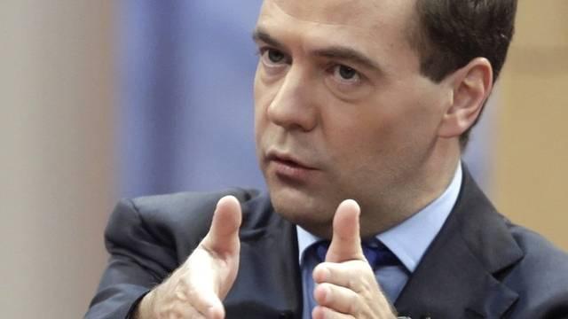Medwedew fordert mehr Disziplin der Raumfahrtbehörde Roskosmos (Archiv)