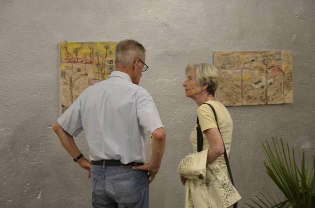"""Impressionen von der Vernissage zur Ausstellung """"Raumfahrt II - Bruchstücke"""" im Museum Langmatt."""