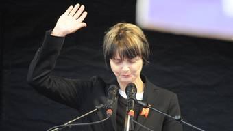 Micheline Calmy-Rey brach 1. Mai-Rede in Zürich ab