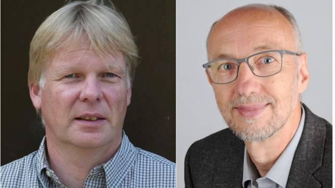 Ulrich Maier, neuer Leiter Mittel- und Berufsschulen (l.). Dieter Baur, neuer Leiter Volksschulen Basel-Stadt (r.) Fotos: Zvg