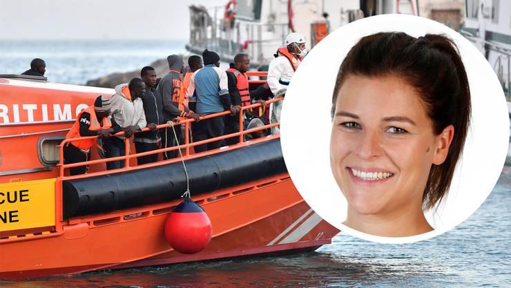 Jedes Jahr flüchten Tausende über das Mittelmeer nach Europa: SP-Einwohnerrätin Hannah Locher:«Die Stadt Baden mit ihrer internationalen Vergangenheit könnte eine Vorreiterrolle einnehmen.»