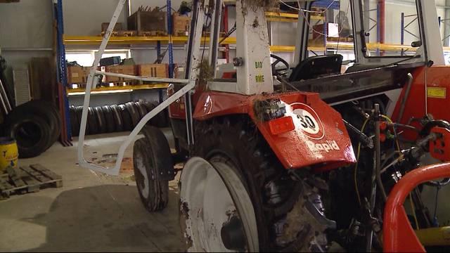 Traktorfahrer bleibt unverletzt