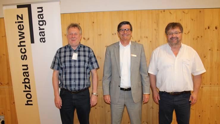 Felix Bühlmann (Co-Präsident), Daniel Gloor (RUZ) und Hansjörg Steiner (Co-Präsident) (v.l.n.r).