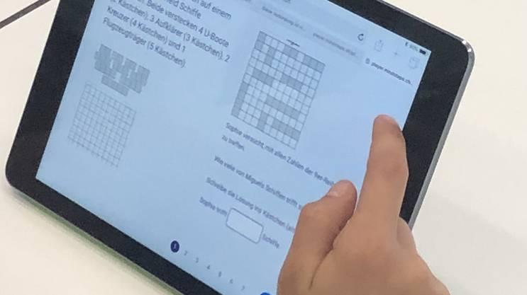 Mit «Mindstep» können die Schüler und Schülerinnen individuell üben.