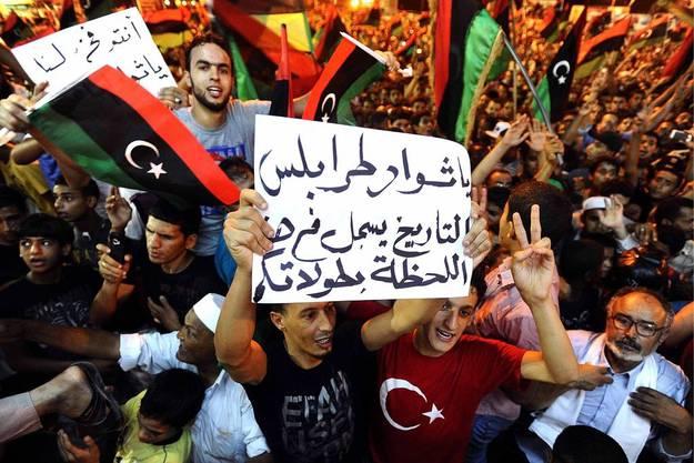 Das Volk feiert in Bengasi