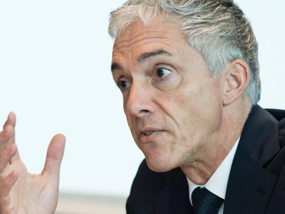 Bundesanwalt Michael Lauber 2018 an einer Medienkonferenz. (KEYSTONE/Peter Schneider)