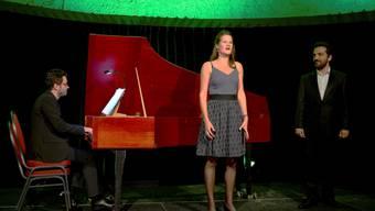 Sopranistin Nicole Hitz und Bass-Bariton Aram Ohanian werden am Cembalo von Francesco Addabbo begleitet.
