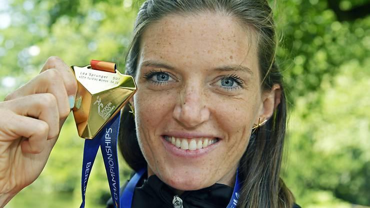 Sorgte mit Gold für den absoluten Glanzpunkt aus Schweizer Sicht: Hürden-Europameisterin Lea Sprunger