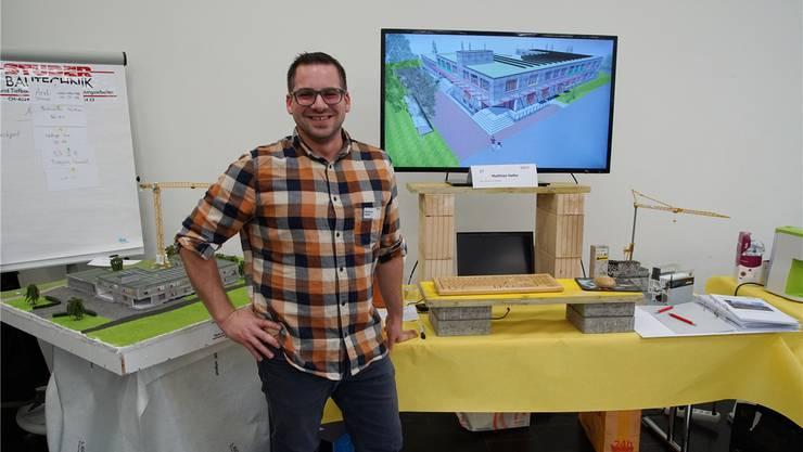 Matthias Haller erhielt den Publikums-Preis für sein Schulhaus-Konzept. ZVG