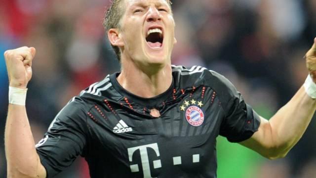 Bastian Schweinsteigers Jubel nach dem 1:0 für Bayern München