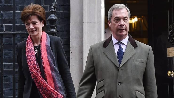Diane James war nur kurze Zeit Nachfolgerin von Nigel Farage an der UKIP-Spitze. Wegen fehlender Unterstützung in der Partei legte sie ihr Amt nach nur 18 Tagen schon wieder nieder. (Archivbild)