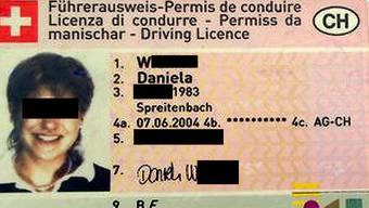 Führerausweis der entführten Daniela W.