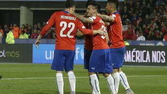 Die Spieler von Chile konnten gleich fünfmal jubeln