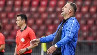 Nach gut zwei Jahren ist seine Zeit beim FC Aarau abgelaufen: Cheftrainer Patrick Rahmen