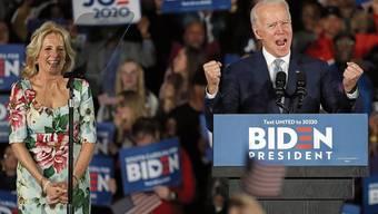 Präsidentschaftskandidat Joe Biden bei einem seiner letzten Auftritte vor der Coronakrise.