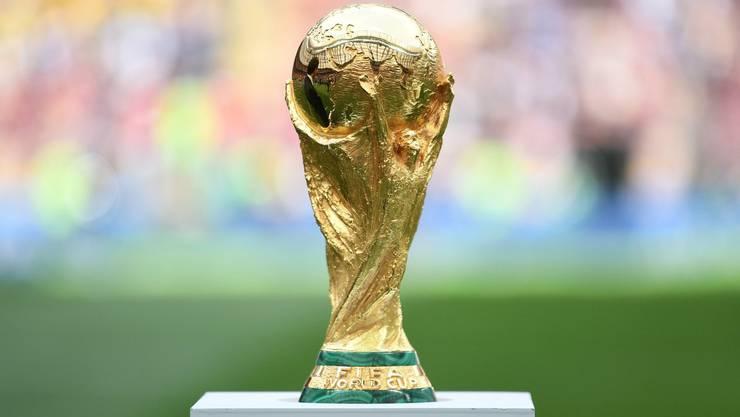 Das Objekt der Begierde Der 6,2 Kilogramm schwere WM-Pokal.