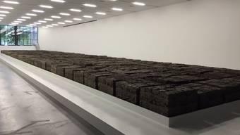 80 Tonnen Zürcher Exkremente sind in diesem Raum ausgestellt.