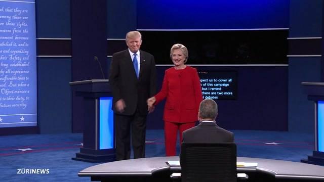 Duell: Trump gegen Clinton