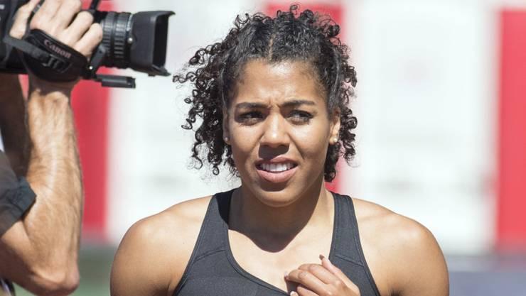 Mujinga Kambundji gewann den Schweizer Meistertitel über 100 m auf souveräne Weise