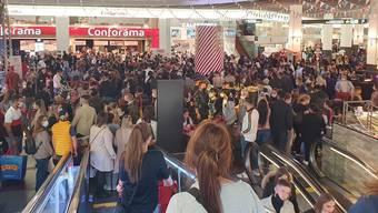 Twitterbild von der Jubiläumsfeier im Shoppi Tivoli