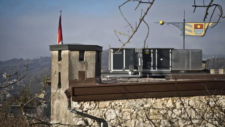 Die im vergangenen jahr auf dem Schlossdach montierte Wärmerückgewinnung