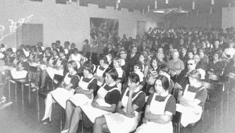 Diplomierung des Kurses Ampelos vom 27. März 1973: Die Schwesternschule galt 57 Jahre lang als beste Pflegeausbildungsstätte im Kanton.