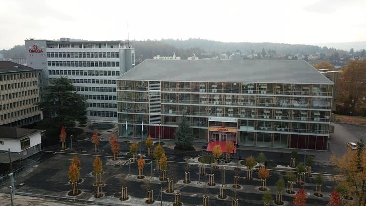 Der neue Hauptsitz der Omega in Biel am Tag der Eröffnung