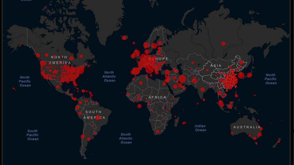 Diese Echtzeit-Karte zeigt die Ausbreitung des Coronavirus