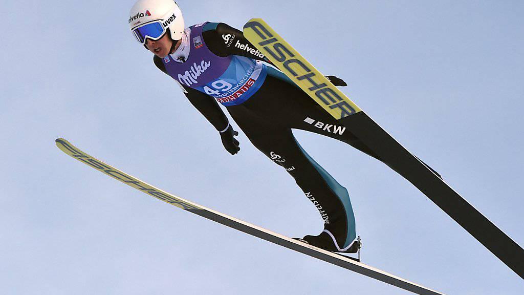Simon Ammann meisterte die Qualifikationshürde in Innsbruck mühelos