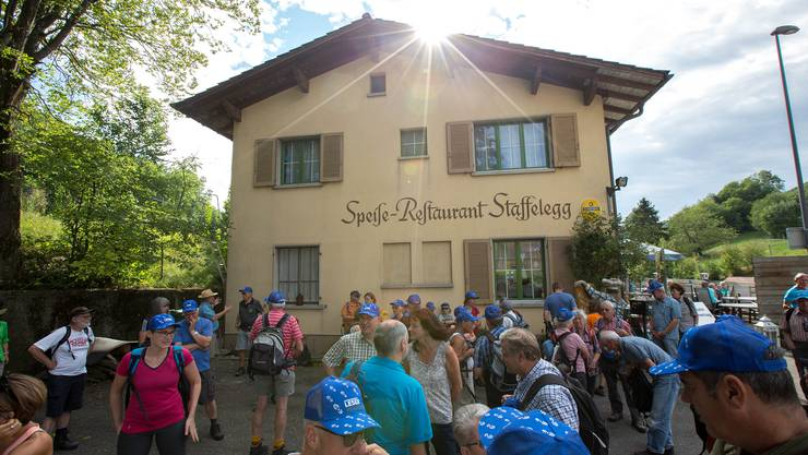 Start auf der Passhöhe Staffelegg ob Aarau