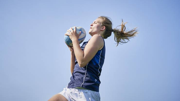 Joëlle Huber: «Häufig wird mir gesagt, dass ich nicht wie eine Rugby-Spielerin aussehe. Dies kommt wohl vom Unwissen, dass es im Rugby für jede Position andere Körperstrukturen braucht.»