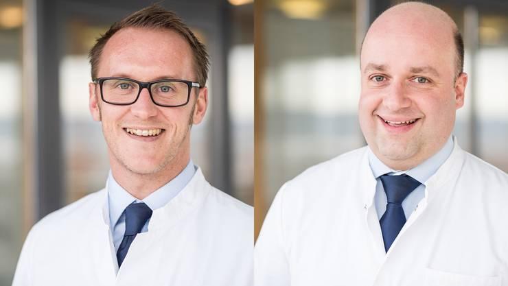 Die zwei neuen Leitenden Ärzte in Dornach: Armin Halla und Matthias Wimmer.