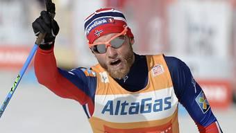Der Sieger Martin Johnsrud Sundby