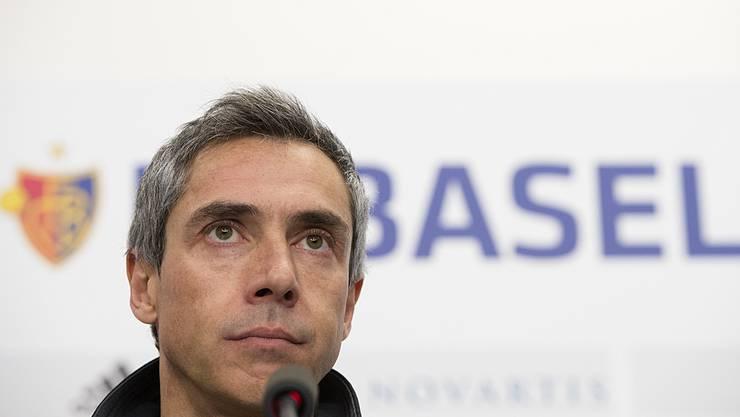 Paulo Sousa bewertete an der Pressekonferenz seine erste Saison beim FC Basel.