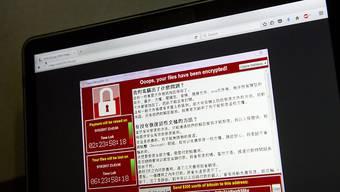 Der Cyberangriff «WannaCry» war einer der bislang schwersten weltweit und hat Zehntausende Computer von Konzernen und Institutionen lahmgelegt. (Archivbild)