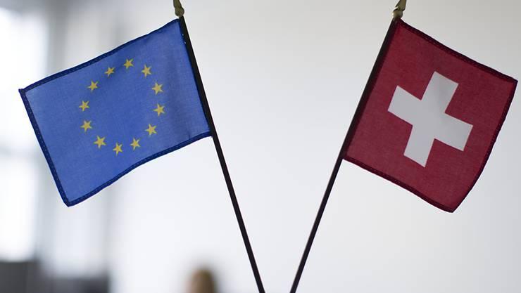 """Seit 2014 verhandeln die Schweiz und die EU über ein institutionelles Rahmenabkommen. Die EU-Kommission sieht am Dienstag nach einem Treffen mit Schweizer Unterhändlern zwar Fortschritte, aber """"keinen Durchbruch""""."""