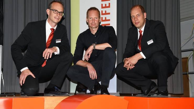 Prägten das Branchenforum (von links): Thomas Jäggi (Mitglied der Bankleitung), Referent Marcel Mühlethaler und Reto Joder (Leiter Markt Buchsi).