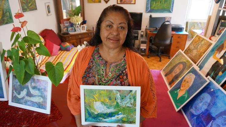 Vor 38 Jahren beobachtete Consuelo Pfister-Dias Buckelwale an der brasilianischen Kueste - nun widmet sie dem Wal ein Bild
