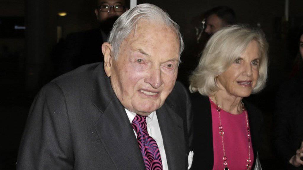 David Rockefeller - hier im Juni 2015 - wurde 101 Jahr alt. (Archivbild)