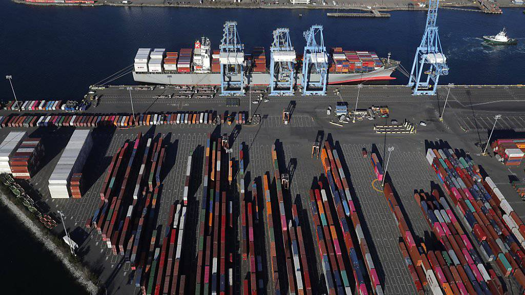 Container-Hafen in Tacoma im US-Bundesstaat Washington. (Archivbild)
